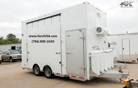 Refrigerated BBQ trailers