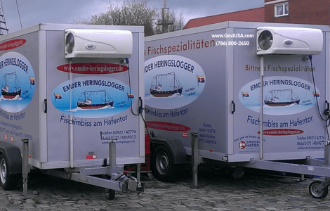 Refrigerated Trailer Marinas for storage of sea goods