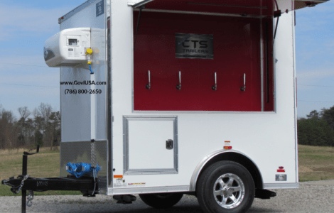 Refrigerated Mobile beer cooler trailer