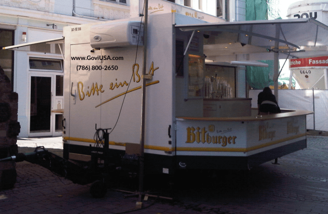 Concession trailers for refrigerated product
